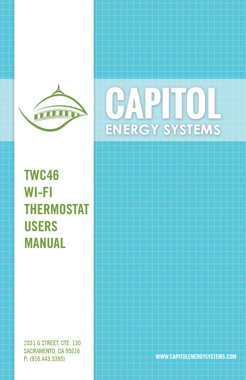 Capitol Energy Systems TWC46 Users Manual