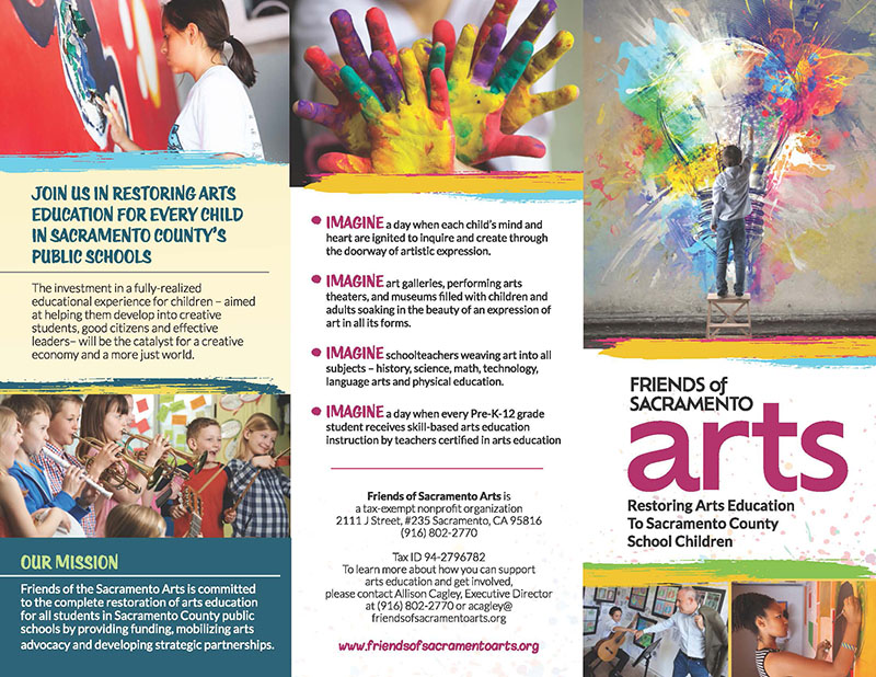 Brochure for Friends of Sacramento Arts