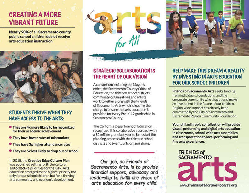 Friends of Sacramento Arts brochure page 2