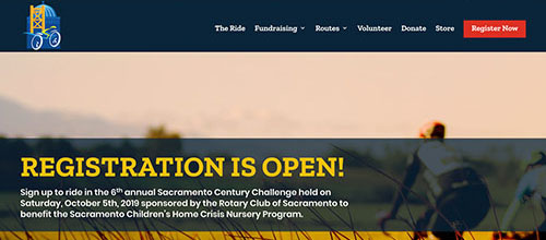 Sacramento Century Challenge Website Screenshot